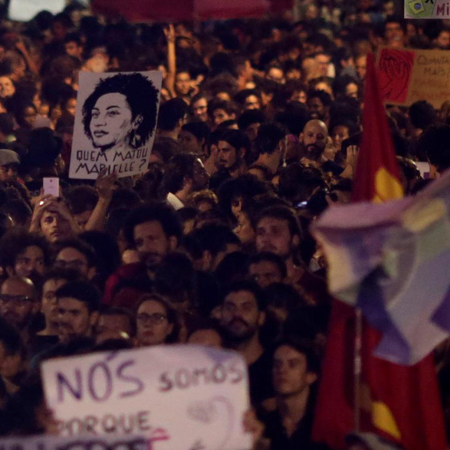 Brazil councillor Marielle Franco's death draws tens of thousands of protesters