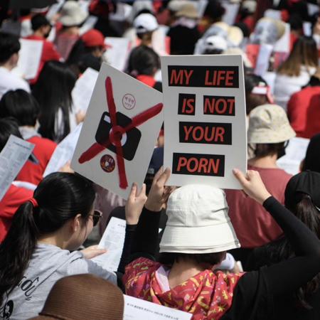 五萬名南韓女性上街抗議偷拍行為