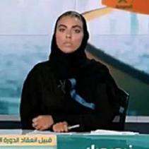 沙國史上首位國營電台女主播