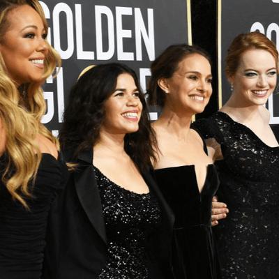 響應 #TimesUp 運動,2018年金球獎所有明星全黑走紅毯