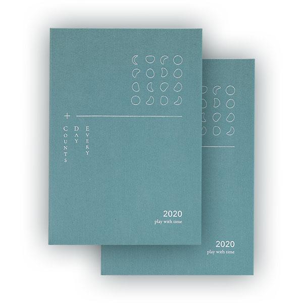 【最後加印預購】2020 play with time 手帳成雙組(月海藍x2) 的圖片