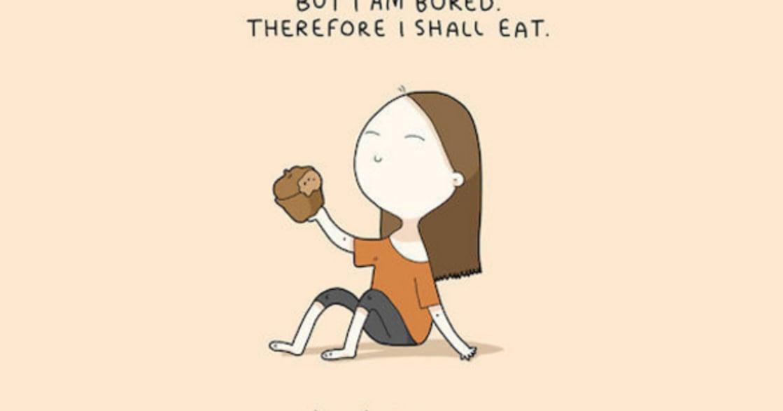七張貪吃鬼的內心獨白:我不在吃,就在去吃的路上