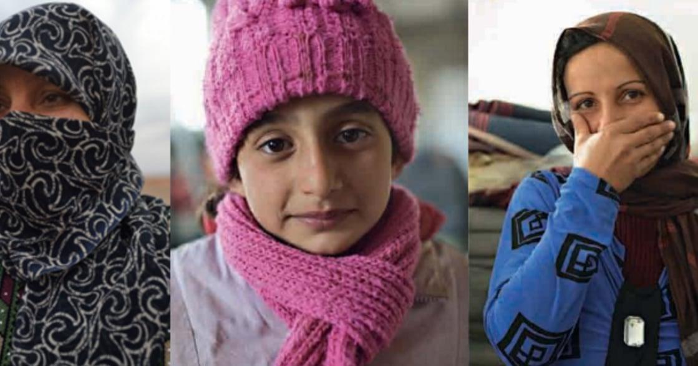 「活在砲火中,我們沒有哭」敘利亞沒有表情的女人女孩