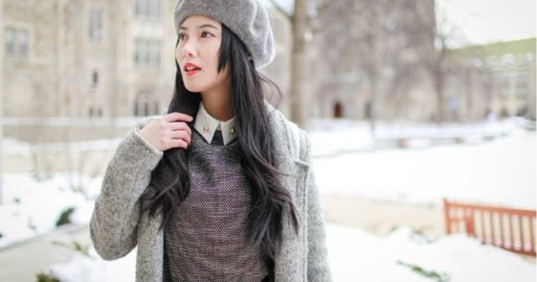 穿搭日記:毛呢、尖領、劍橋包,化身雪國女孩