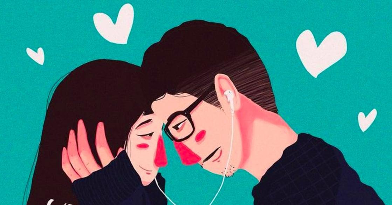 情侶日常插畫集:只要你一個擁抱,我就擁有全世界