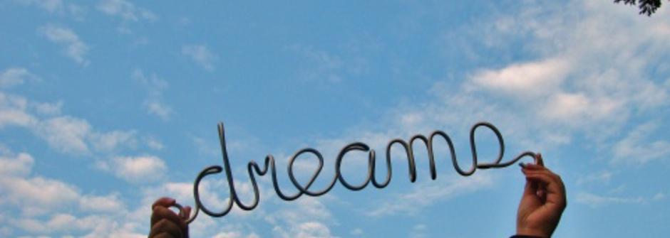 把夢想的感覺拉大!越大越好!