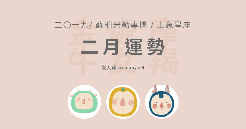 【蘇珊米勒】2019 金牛、處女、摩羯:土象星座二月運勢