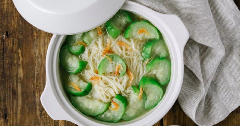 回家吃飯吧|替自己煮一碗櫻花蝦絲瓜麵線