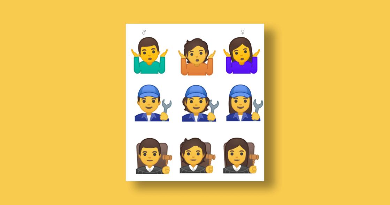 撕下性別標籤!Google 推出 53 個「去性別」emoji