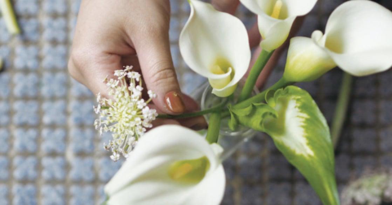 花的姿態,紀錄你喜歡的時光:用造型瓶開始學簡單插花