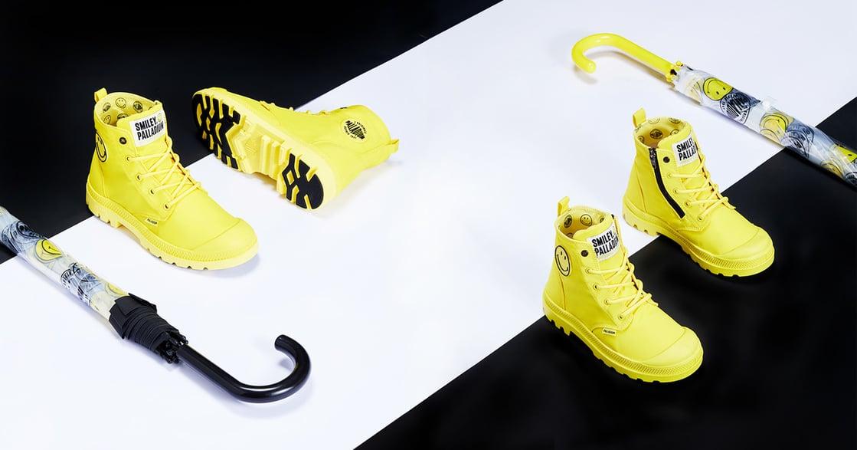 雨天也要微笑啊!經典微笑 Smiley 推出史上最可愛防水靴