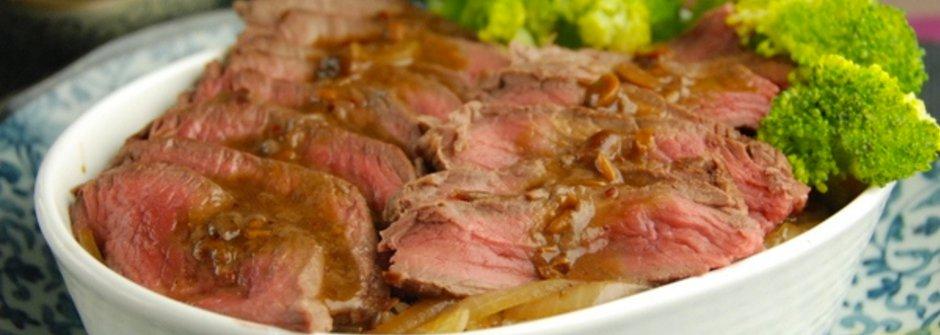 美味料理食譜:紅麴味噌牛排蓋飯