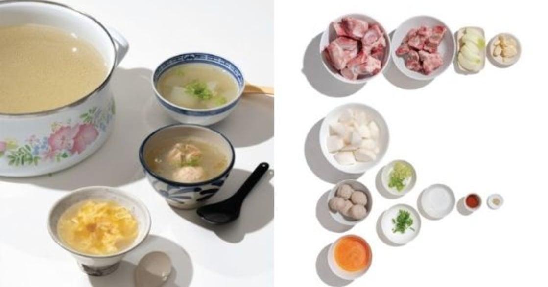 大骨湯底配貢丸跟蛋花:最簡單的家庭清湯