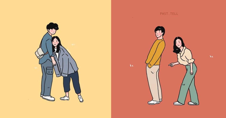 泰國情侶插畫集:和你在一起,什麼幼稚的事我都願意做