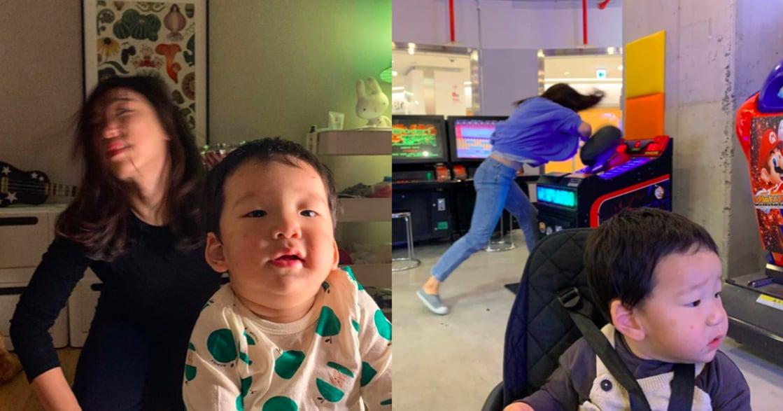 「如果可以睡飽,誰想在半夜醒來?」韓星李美度好療癒「崩潰媽媽」照片特輯
