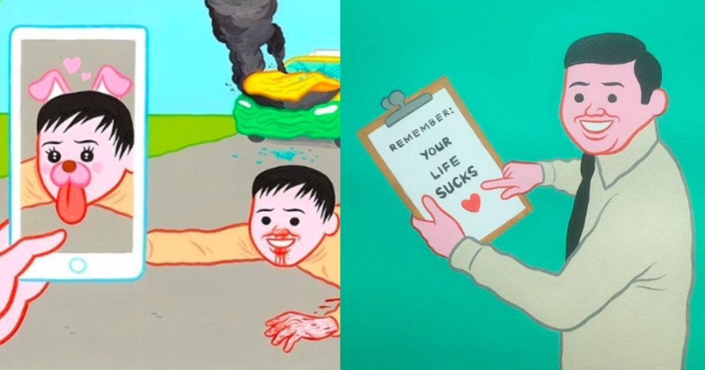 二度來台開展!藝術家 Joan Cornellà:世界末日來臨前,先讓我拍照打個卡