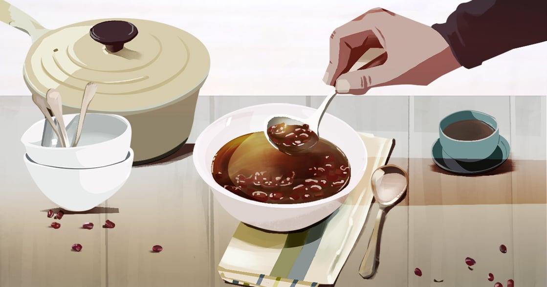 【吃與愛】紅豆湯:為了經痛的我,那大概是爸爸人生第一次下廚