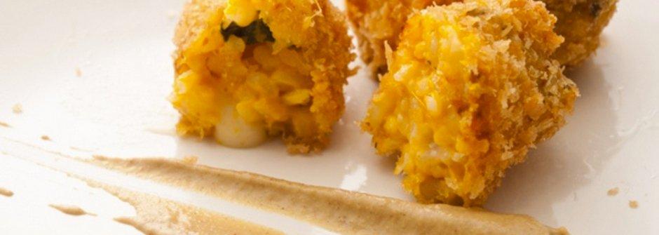 美味料理食譜:南瓜乳酪炸米球