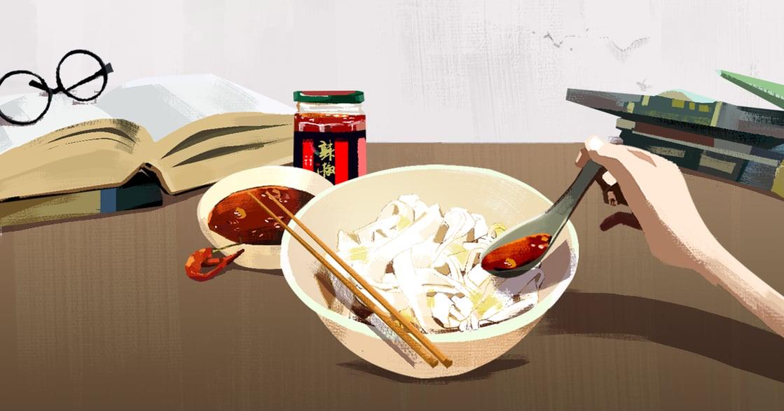 【吃與愛】一碗白麵條與辣椒醬:吃下肚,就足以與寂寞打一場仗