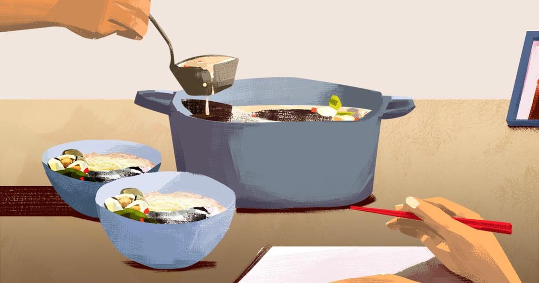 【吃與愛】鱸魚蛤蠣麵線:他將我從愛情市場裡撿回,從此有了家