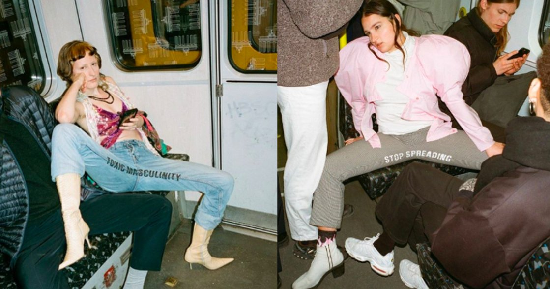 我們受夠被「男性開腿」霸佔座位!柏林學生推出抗議標語牛仔褲