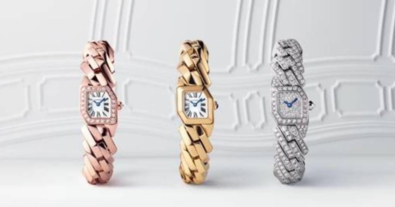卡地亞全新 Maillon de Cartier 系列腕錶,扭轉幾何視覺 ,呈現玩味錶鍊的經典元素