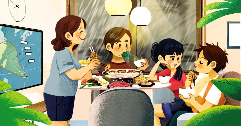 【夏天餐桌故事】颱風天中的小火鍋:知道外面颳風下雨,有一個可以回去的家