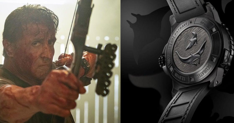 席維斯・史特龍 X 寶齊萊:柏拉維深潛腕錶碳黑版,與魔鬼魚深海共舞