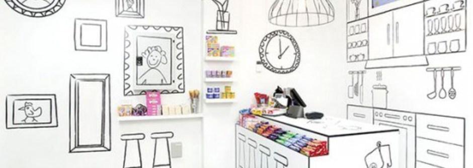 彷彿置身漫畫中,2D 糖果店 The Candy Room
