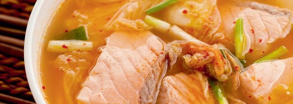 美味料理食譜:鮭魚泡菜鍋