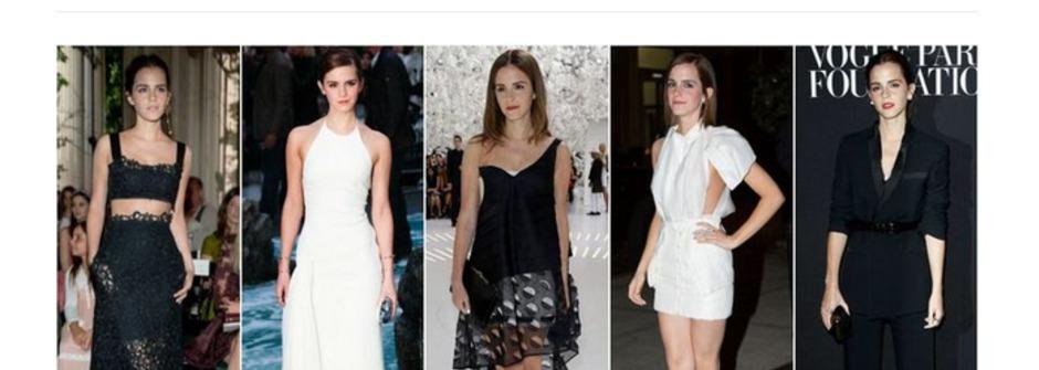 艾瑪華森教你!每個人衣櫃都有的黑白兩色穿搭術