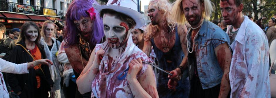 全面淪陷!被殭屍佔領的倫敦喪屍遊行
