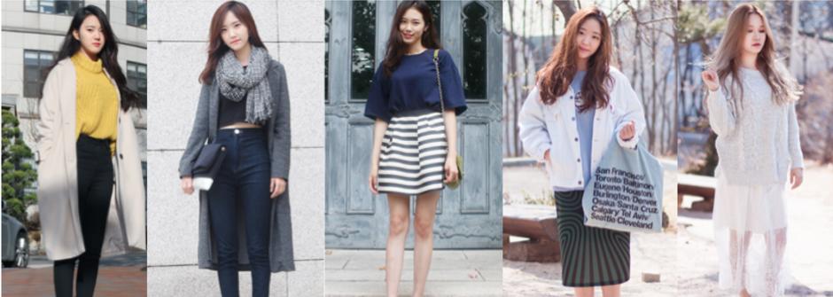 韓國街拍直擊!梨花女大生甜美又帥氣的春感穿搭