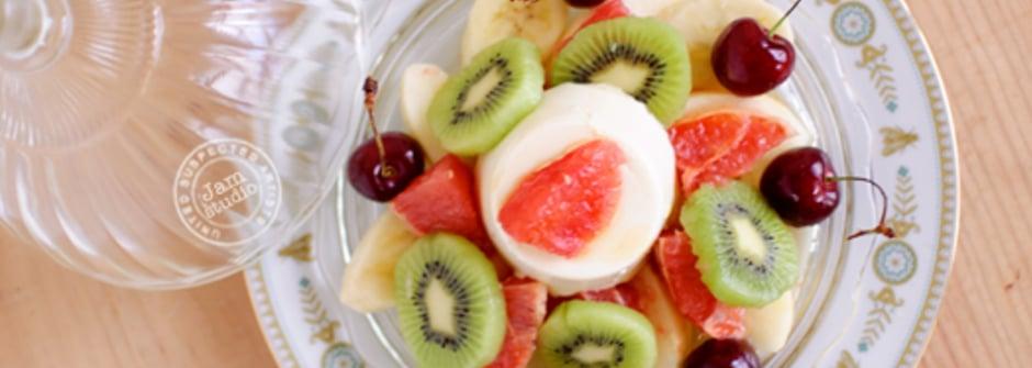 美味料理食譜:吃出你的蘋果肌─豆漿奶酪水果總匯