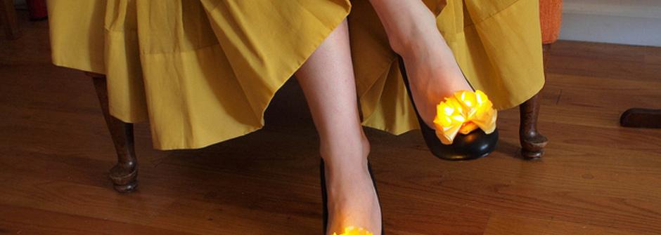 DIY發光小黃花,替妳的鞋增添不一樣的光彩!