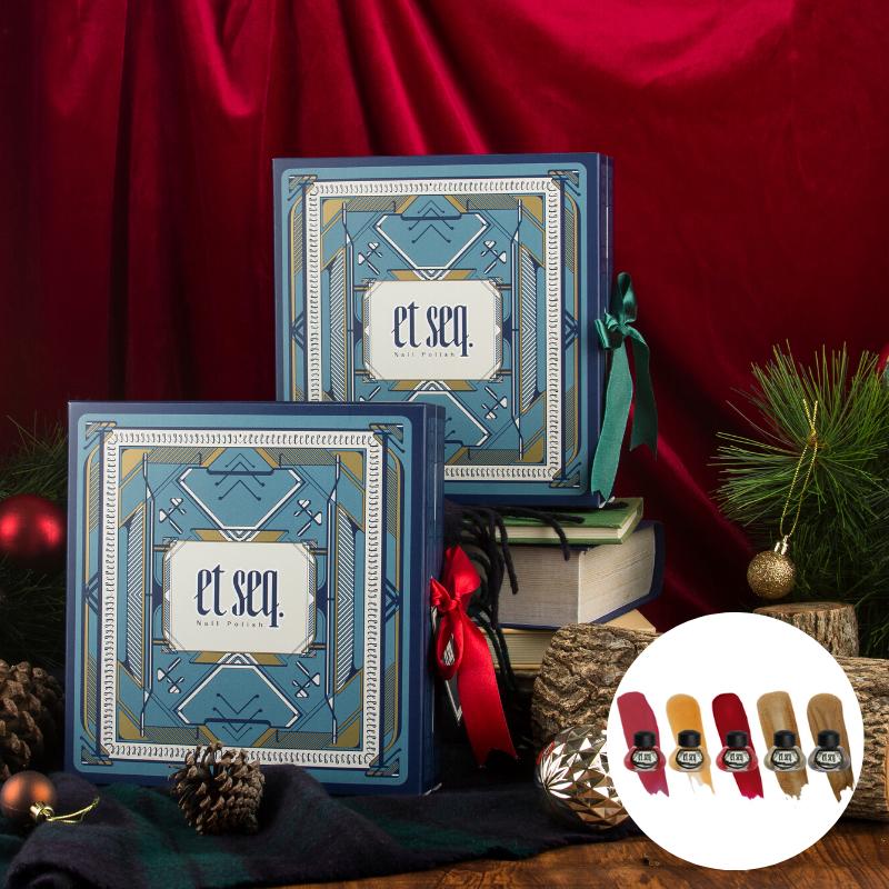 【年末限定】聖誕紅綠五入禮盒|紅緞帶版