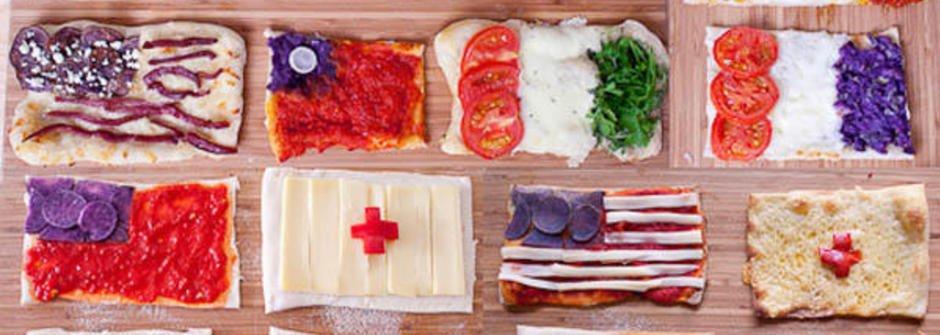 帶你環遊世界的國旗造型 Pizza