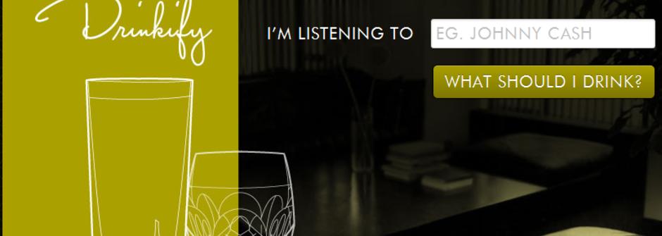 聽見什麼喝什麼 drinkify.org