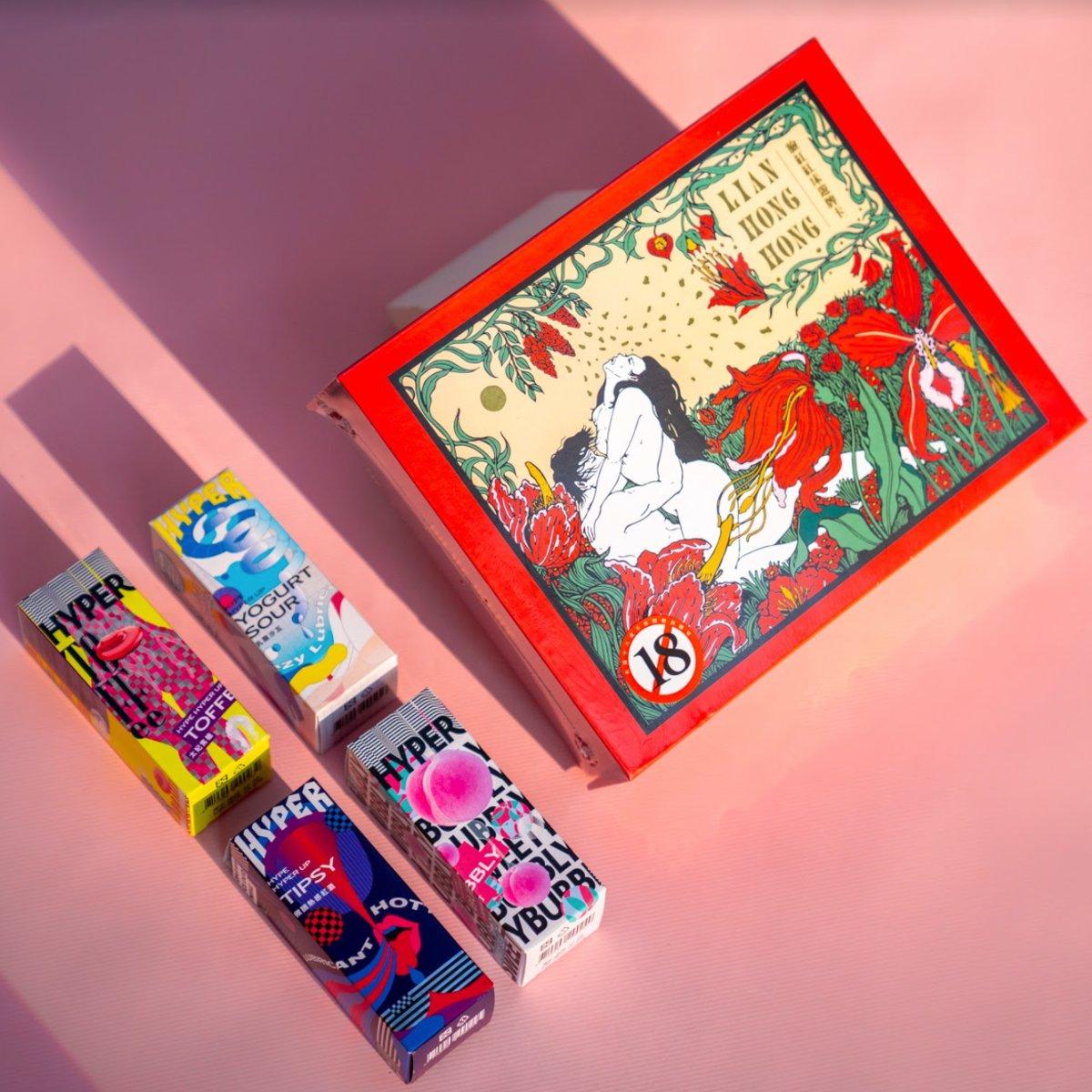(獨家)臉紅紅床遊卡牌+Haru Hyper 愛愛貪吃鬼潤滑液四入 的圖片