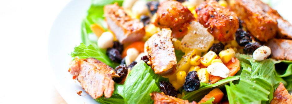 美味料理食譜:低油美味肉排沙拉