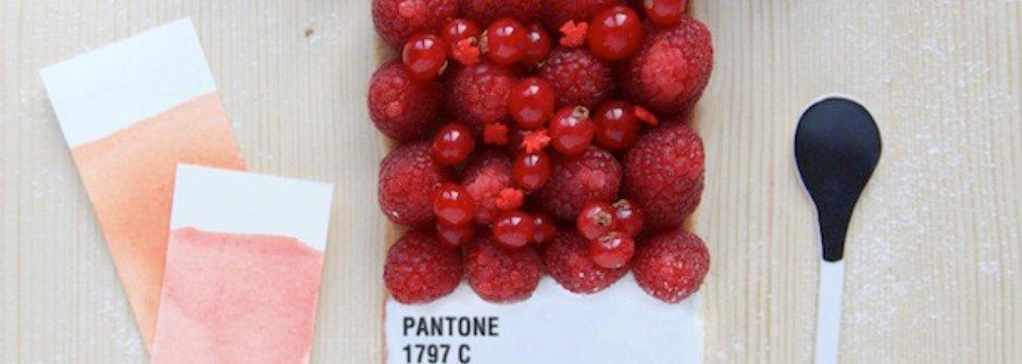 好看又好吃的甜美食物 Pantone 色票