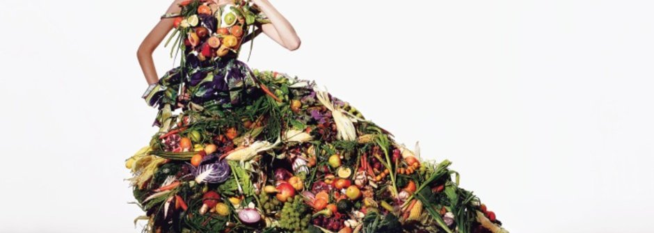 來自義大利的蔬果禮服時尚「饗」宴