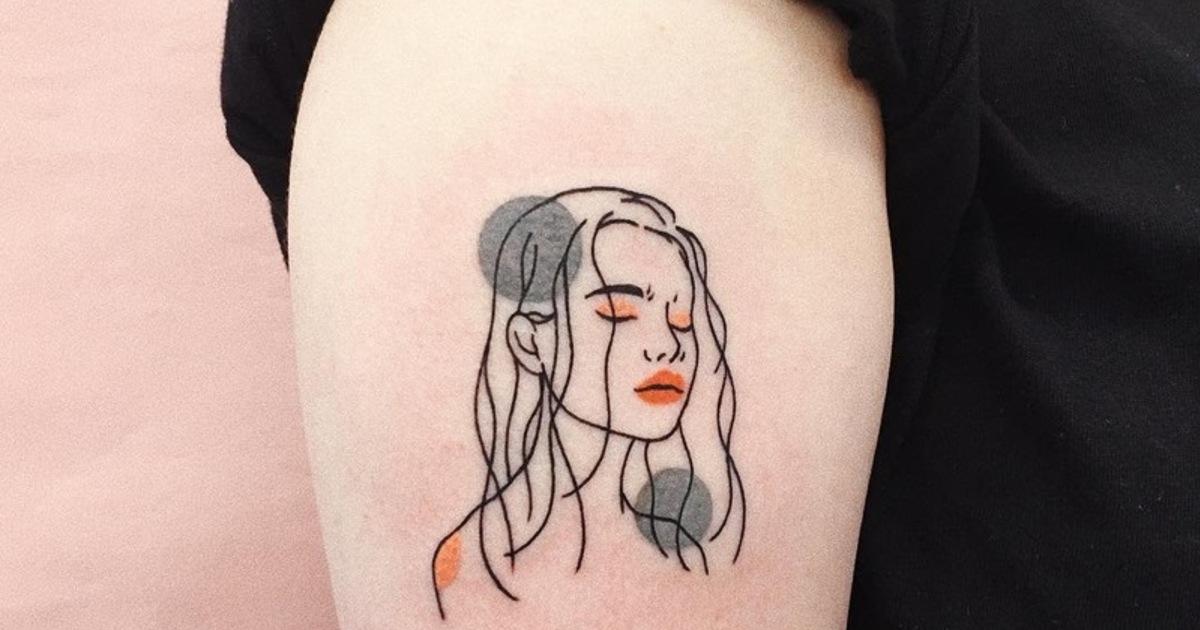 刺在鎖骨、手腕都可愛!充滿塗鴉風的微刺青