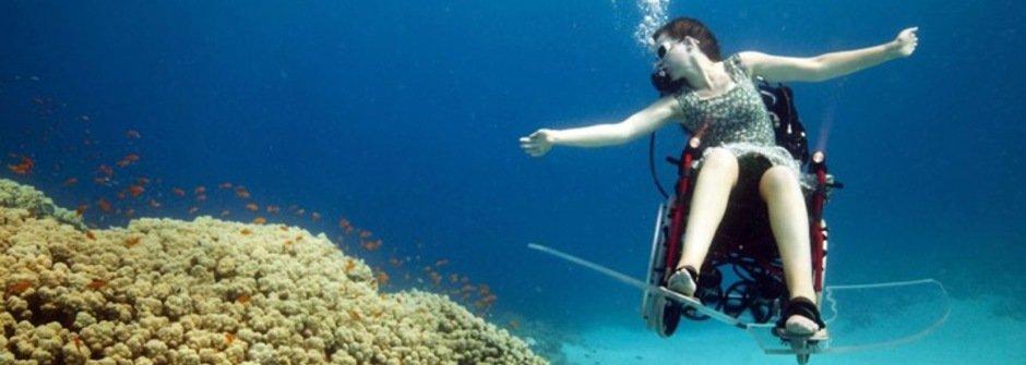 藝術與醫學的相遇:輪椅上的深海潛水 Sue Austin