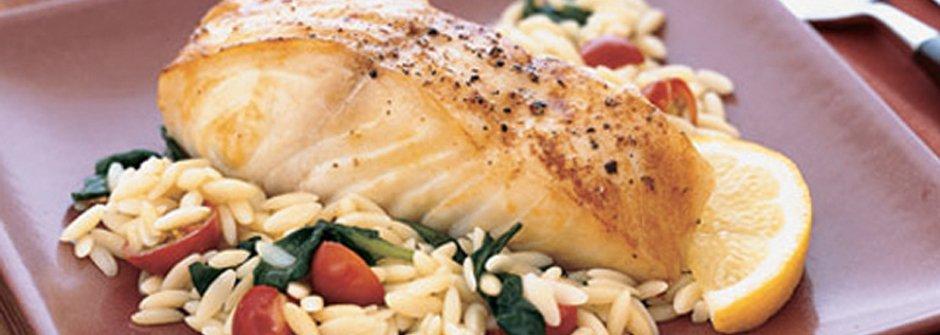 美味料理食譜:地中海嫩烤比目魚佐義大利麵