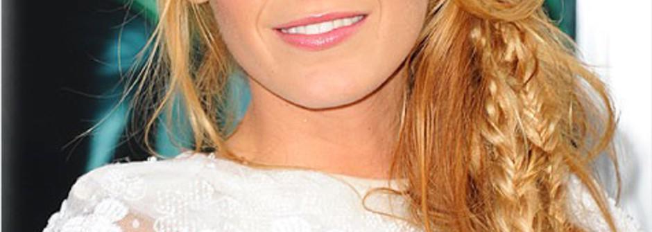 好萊塢女星示範 側綁式柔美編髮