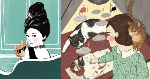 偉大女人背後那隻超棒的貓|無論拍戲、上太空、躲避戰亂,都要跟你在一起