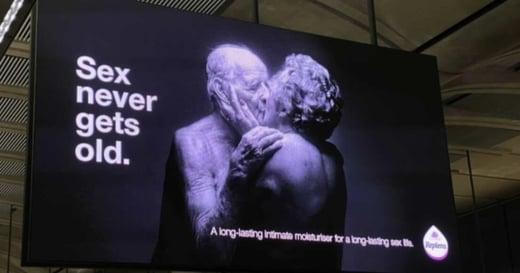 不分年齡的性需求!倫敦地鐵廣告:Sex never gets old