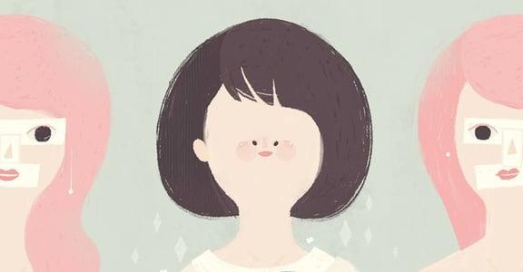 【女人節插畫】我要遇見的不是對的人,而是成為對的自己