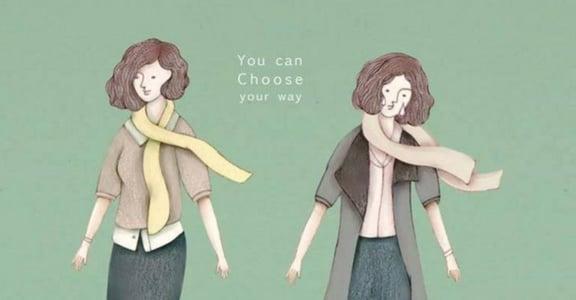 【女人節插畫】愛是懂得牽手,也安心放手